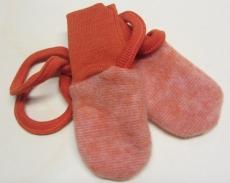 Cosilana Baby-Fäustel ohne Daumen, 100% Bio-Wollfleece (kbT),  orange melange