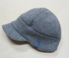 Schild-Mütze PICKAPOOH-Oskar-Baumwollfutter, 100% Bio-Wollwalk (kbT), grau