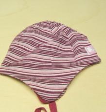 Mütze PICKAPOOH-Radler, 97% Bio-Baumwolle (kbA) 3% Elasthan, pink-ringel