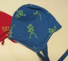 Mütze PICKAPOOH-Radler, 97% Bio-Baumwolle (kbA) 3% Elasthan, blau männchen