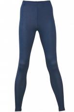 Engel Damen-Leggings, 70% Bio-Wolle (kbT) und Seide, marine