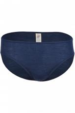 Engel Damen-Bikini-Slip, 70% Bio-Wolle (kbT) und Seide, marine