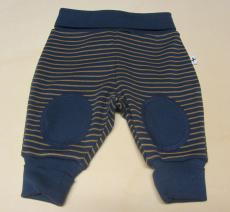 Leela-cotton Baby-Nabelbundhose lang, 100% Bio-Baumwolle(kbA), marine ingwer