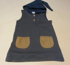Leela cotton Tunika Shirt o.A.m.Kapuze, 100% Bio-Baumwolle (kbA), marine-ingwer