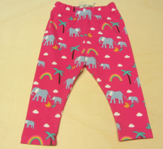 Frugi Baby Leggings, 95% Bio-Baumwolle(kbA) u. 5% Elasthan, pink mit Tieren
