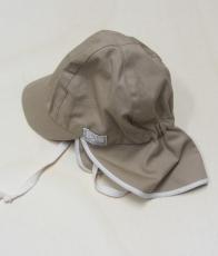 Mütze mit Schild, PICKAPOOH-Tom UV 20, 100% Bio-Baumwolle (kbA), sand