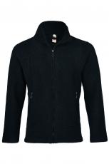 Herren-Jacke tailliert, Bio-Wollfleece, schwarz melange