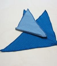 Leela cotton Dreiecktuch, 100% Bio-Baumwolle (kbA),  blau-weiß