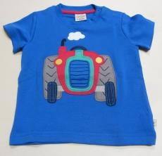 Shirt kurzarm, Bio-Baumwolle, blau