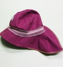 Mütze mit Schild und Nackenschutz PICKAPOOH-Feuerwehr Strick UV 80, 100% Bio-Baumwolle (kbA), dahlia