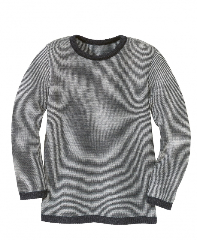 new style ec2a6 fb4d2 Disana Pullover, 100% Bio-Wolle (kbT), anthrazit-grau