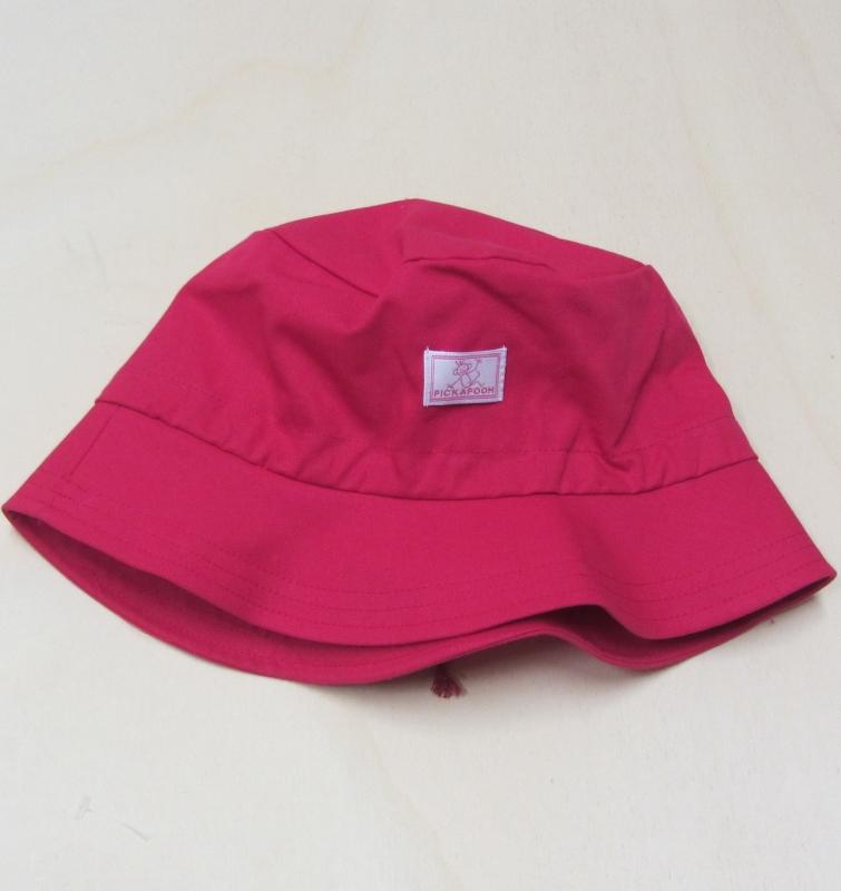 344c94991a Mütze mit Krempe und Tunnelzug, PICKAPOOH-Fischerhut UV 80, 100% Bio- Baumwolle (kbA), pink