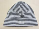 Mütze PICKAPOOH-Schlupper, 70% Bio-Wolle (kbT) und Seide, grau-weiß