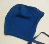 Mütze PICKAPOOH-Radler, 70% Bio-Wolle (kbT) u. Seide, ocean