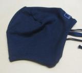 Mütze PICKAPOOH-Radler, 70% Bio-Wolle (kbT) u. Seide, marine
