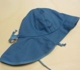 Mütze mit Schild und Nackenschutz PICKAPOOH-Feuerwehr UV60, 100% Bio-Baumwolle (kbA), jeans