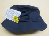 Mütze mit Krempe und Tunnelzug, PICKAPOOH-Fischerhut UV 80, 100% Bio-Baumwolle (kbA), marine
