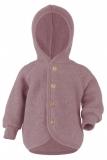 Engel Baby-Jacke mit Kapuze, 100% Bio-Wollfleece (kbT), rose melange