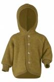 Engel Baby-Jacke mit Kapuze, 100% Bio-Wollfleece (kbT), safran melange