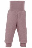 Engel Baby-Hose lang, 100% Bio-Wollfleece (kbT), rose-melange