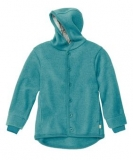 Disana Walk-Jacke mit Kapuze u. Armbündchen, 100% Bio-Wolle (kbT), lagoon