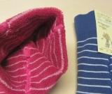 Grödo Frottee-Baby-Strumpfhose, 100% Bio-Baumwolle (kbA), pink-weiß