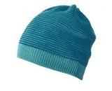 Strick-Mütze Disana Beanie, 100% Bio-Wolle(kbT), lagoon-blau