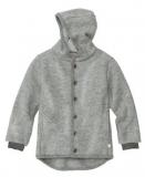 Disana Walk-Jacke mit Kapuze u. Armbündchen, 100% Bio-Wolle (kbT), grau