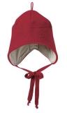 Wollwalk-Mütze Disana-Baumwollfutter, 100% Bio-Wolle(kbT), Futter 100% Bio-Baumwolle(kbA), bordeaux