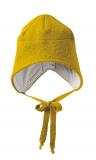 Wollwalk-Mütze Disana-Baumwollfutter, 100% Bio-Wolle(kbT), Futter 100% Bio-Baumwolle(kbA), gold