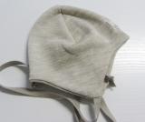 Mütze PICKAPOOH-Radler, 70% Bio-Wolle (kbT) und Seide, gelb-weiß