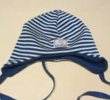 Mütze PICKAPOOH-Radler, 70% Bio-Wolle (kbT) und Seide, ocean-weiß
