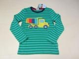 Frugi Kinder Shirt langarm, 100% Bio-Baumwolle(kbA), grün Ringel