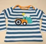 Frugi Kinder Shirt langarm, 100% Bio-Baumwolle(kbA), blau Ringel