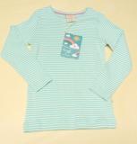 Frugi Kinder Shirt langarm, 100% Bio-Baumwolle(kbA), türkis Ringel