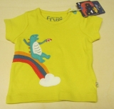 Frugi Shirt kurzarm, 100% Bio-Baumwolle (kbA),  gelb Dino