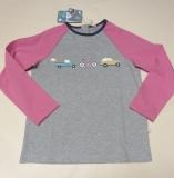 Frugi Kinder Shirt langarm, 100% Bio-Baumwolle(kbA), grau-pink