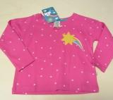 Frugi Kinder Shirt langarm, 100% Bio-Baumwolle(kbA), rosa Punkte
