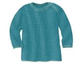 Disana Baby Strickpulli, 100% Bio-Wolle(kbT), lagoon - blau