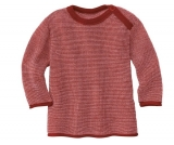 Disana Baby Strickpulli, 100% Bio-Wolle(kbT), bordeaux - rosa