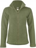 Engel Damen-Jacke tailliert, 100% Bio-Wollfleece (kbT),  schiefer