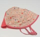 Sommer-Mütze PICKAPOOH-Emma, 100% Bio-Baumwolle (kbA), rosa Blümchen