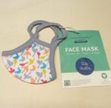Mund-Nasen-Schutzmaske für Kinder, 100% Bio-Baumwolle(kbA), 'Vögel