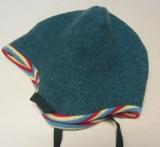 Wende-Mütze PICKAPOOH-Leo, 100% Bio-Wollwalk (kbT), grün