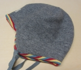 Wende-Mütze PICKAPOOH-Leo, 100% Bio-Wollwalk (kbT), grau