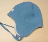 Mütze PICKAPOOH-Jack-Baumwollfutter, 100% Bio-Wollwalk (kbT), blue