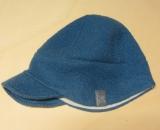 Schild-Mütze PICKAPOOH-Oskar-Baumwollfutter, 100% Bio-Wollwalk (kbT), blau