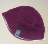 Mütze PICKAPOOH-Milan-Baumwollfutter, 100% Bio-Wollfleece (kbT), dahlia