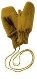 Disana Wollwalk Fäustlinge, 100% Bio Wolle (kbT), gold