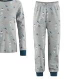 Living-crafts-Schlafanzug zweiteilig, 100% Bio-Baumwolle(kbA), grau-marine
